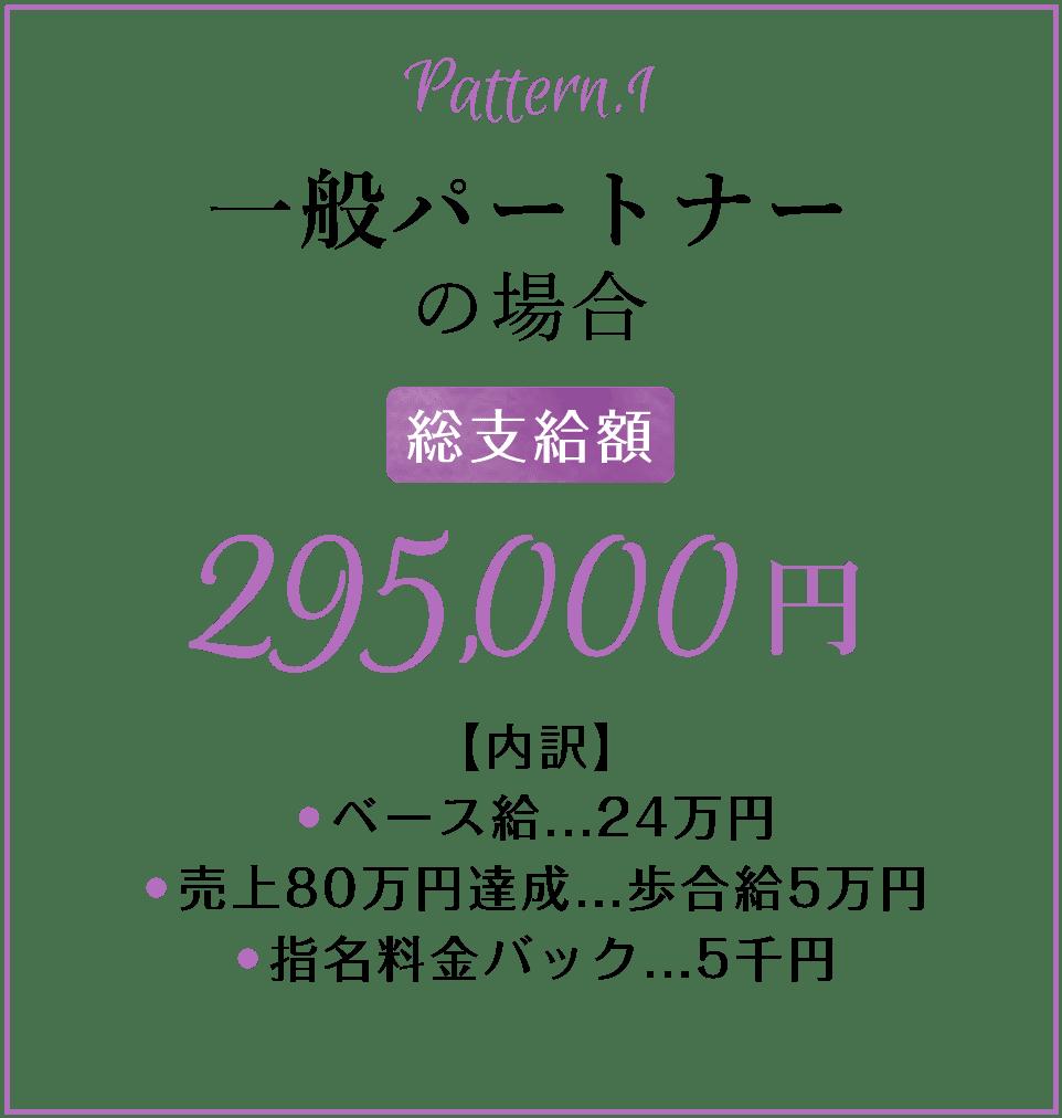 一般パートナーの場合の給与総支給額295,000円